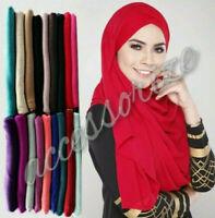 Ladies HIGH QUALITY Maxi Jersey Large Shawl Scarf Pashmina Hijab Abaya Jersey