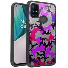 MetKase Hybrid Slim Phone Case Cover For OnePlus Nord N10 5G-PURPLE STYLISH CAMO