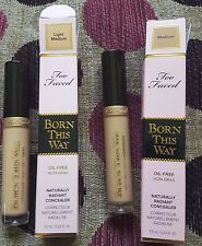 .RRP£20 Brand New Boxed TOO FACED Born This Way concealer light Medium or Medium