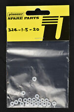Pioneer 1/32 Scale Slot Car 1.5mm Plastic Rear Axle Spacer - 20pcs 324-1.5-20