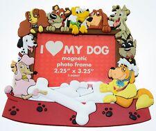 Disney Parks Magnetic Photo Frame 2.25x3.25 I Love My Dog Pongo Nala Pluto New
