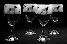 More details for boxer dog wine glasses set of four... boxed