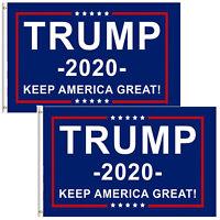 2-Pack Trump 2020 Flag Keep America Great President Donald Trump 3x5 Ft Flag USA