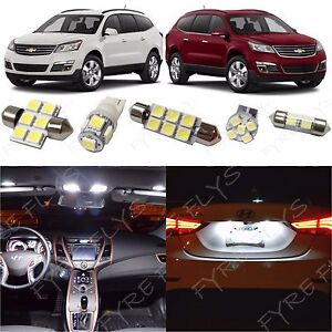 15x White LED lights interior package kit for 2010-2013 Chevrolet Traverse CT2W