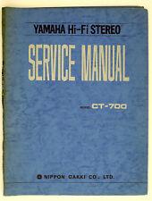 Yamaha ct-700 ORIGINAL AM/FM Stereo Tuner service-manual/Diagram/schéma de branchement