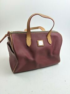 Dooney And Bourke Red Coated PVC Satchel Tote Bag