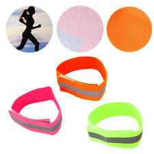 Safety Reflective Arm Band Belt Strap For Sports Outdoor Night Running Bike New