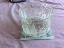 ***Beautiful*** Yankee Candle White Deer and Trees Large Shade And Tray
