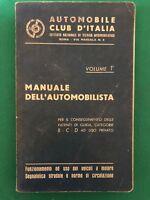 AA.vv. - Manuale dell'Automobilista vol.1 - 1960, ACI