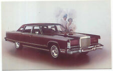 Lincoln Continental Town Car 1977 US issued Postcard