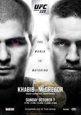 CONOR McGREGOR v KHABIB NURMAGOMEDOV UFC 229 MMA PROMO POSTER