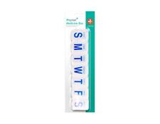 Pro Plast Pillenbox 7 Fächer 7 Tage Tablettenbox Pillendose Pillenspender Medi