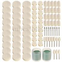 90Pcs Soft Felt Polishing Buffing Clean Wheel Kit For Rotary tools