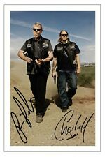 RON PERLMAN & CHARLIE HUNNAM SONS OF ANARCHY SIGNED PHOTO PRINT AUTOGRAPH SOA