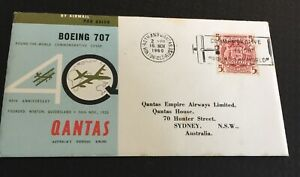 Australia * 1960 Fdc Qantas Boeing 707 40th Anniversary Round The World Souvenir