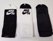 Boys Nike SB Low Cut Socks 3 Pairs Youth 3Y-5Y (7-9) Black/Gray/White 3-Pack