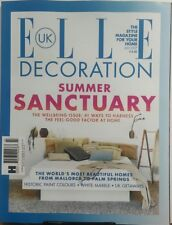 Elle Decoration UK July 2017 Summer Sanctuary Beautiful Homes FREE SHIPPING sb