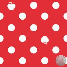 140125689 - Apple of My Eye Red & White Polka Dot Fabric by the Yard Riley Blake