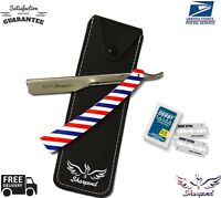 Professional Barber Hair Shaving Razor Straight Knife Navaja With Free 10 Blade