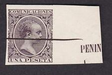More details for spain 1899 alfonso xiii pelon 1p imperforate marginal no gum