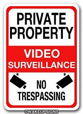 """ALUMINUM 10"""" BY 14"""" PRIVATE PROPERTY VIDEO SURVEILLANCE NO TRESPASSING CCTV SIGN"""