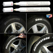 2 LOT TIRE TREAD White WATERPROOF PERMANENT MARKER PAINT PEN RUBBER METAL GLASS!