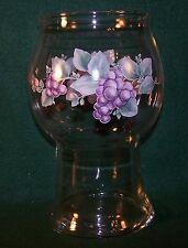 "Pfaltzgraff ~ Grapevine ~ Glass Pillar Float Candle Holder 7 5/8"" Tall"