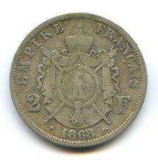 II Empire Napoleon III (1852-1870) 2 Francs Tête laurée 1868 BB Strasbourg