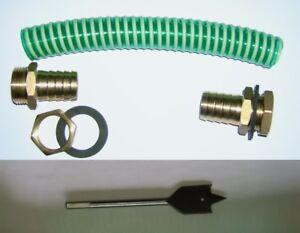 """MS -Regentonnenverbinder 3/4"""" Verbinder- einfache Ausf. mit Bohrer"""