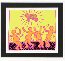 """Keith Haring Offset Lithograph on Paper """"Untitled #1"""" Fertility Suite"""