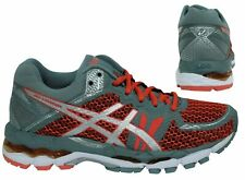 Asics Gel-Luminus 3 Grey Red Lace Up Womens Running Trainers T76SQ 3001 B88C