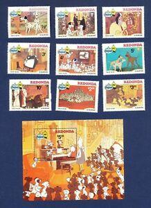 REDONDA - ANTIGUA - VF MNH - Disney - 101 Dalmatians Dogs - Christmas - 1982