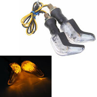 2x Motorcycle Turn Brake Signal LED Light Lamp 12V Amber Indicators For Honda