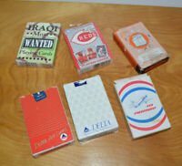 VINTAGE COLLECTIBLE PLAYING CARDS LOT ADVERTISING WESTINGHOUSE MLB BASEBALL