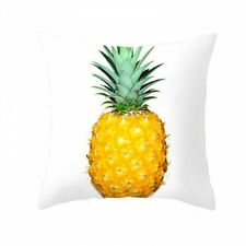 AU 45cm Funky Yellow White Pineapple Cushion Cover Only Polyester Boho Gift