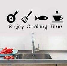 Enjoy Cooking time Küche Spruch Wandtattoo Wallpaper Wand Schmuck 51 x 20 cm