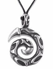 Large Chunky Maori  Koru Pewter Pendant (New Beginnings, Growth & Harmony)