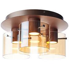 Eglo 94747 Pancento 1 LED Wand /& Deckenleuchte 16 W Stahl Kupferfarben Glas sati