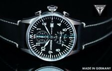 New Junkers 6178-2 Cockpit JU52 Swiss Made Ronda Chronograph Sapphire Crystal