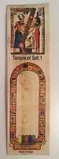 Temple Of SETI 1 Bookmark Parchment Paper Made In Egypt
