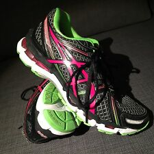 Excellent ASICS Kayano 19 Womens Size 9 40.5 Black Multi colored $150 MEDIUM