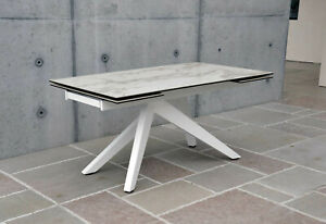 Table Base Metal, Plan Glass Finished Ceramics, 2 All. From 40 CM - Item 948
