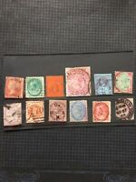 QV Stamps GB & Commonwealth Off Paper Selection x 12 #S2