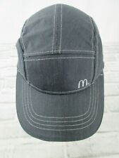 McDonalds Employee Uniform Hat Grey Work Panel Cap Adjustable