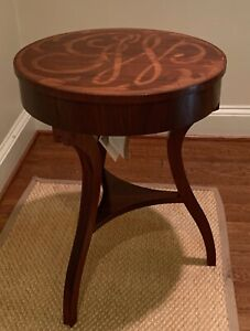 George Washington GW Cypher Marquetry Table by Harden