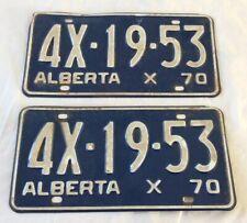 1970 Alberta License Plate Pair 4X-19-53