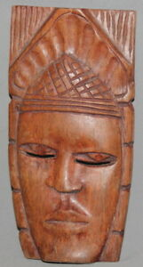 VINTAGE HAND CARVING WALL DECOR SMALL  WOOD MASK