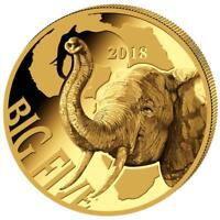 Kamerun 100 Francs 2018 Elefant - Big Five Serie - Gold PP Polierte Platte