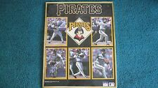 1990 STARLINE PITTSBURGH PIRATES PHOTO PRINT, BONDS, DRABICK, BONIA, SMILEY & VA