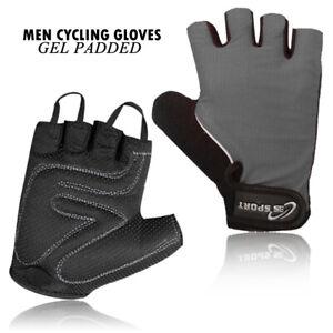 Cycling Gloves Bike Bicycle Men Women Ladies Half Finger Padded Non Slips Sports